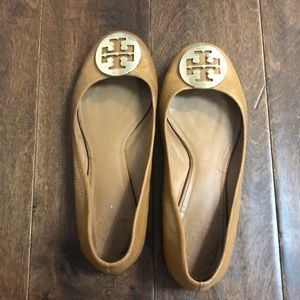 Tory Burch tan flats size 7